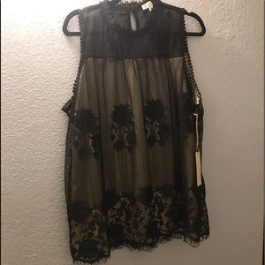 BNWT Paper + tee lace blouse 1X